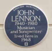 English Heritage blue plaque at no.34 Montagu Square